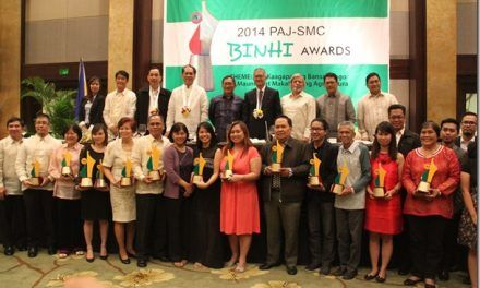 Manila Times, Phil Star lead 2014 PAJ-SMC Binhi Awards
