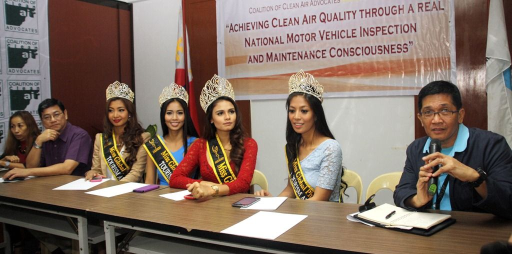 """COALITION OF CLEAN AIR ADVOCATES (CCAA) """" BEAUTIES AGAINST AIR POLLUTION"""" PRESS CONFERENCE:"""
