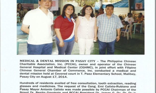 CGHMC, Medical & Dental Mission in Pasay