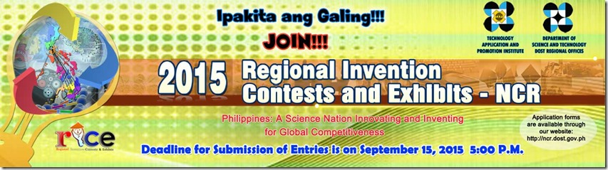 DOST 2015 Regional Invention Contest and Exhibits (NCR)