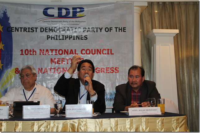CDP 10th Nat'l Council Meeting & 6th Nat'l Congress Idinaos