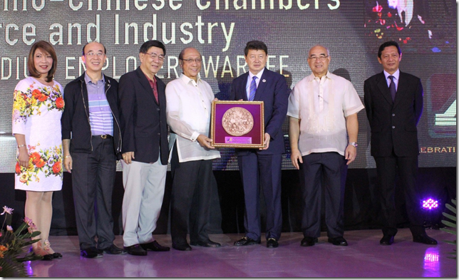 Largest organization of Fil-Chinese businessmen wins SSS Top Employer award