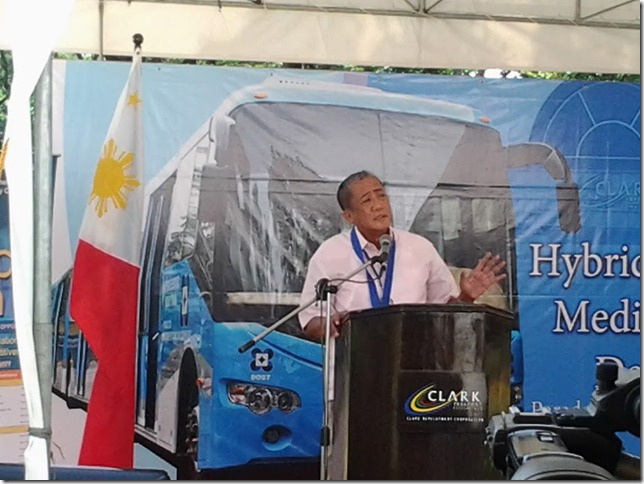 Clark Freeport expressed possibility to adopt DOST Road Train