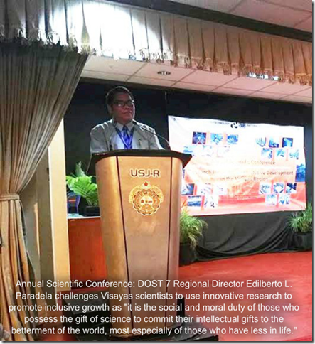 Help the poor through innovative research, DOST VII head urges scientists in the Visayas