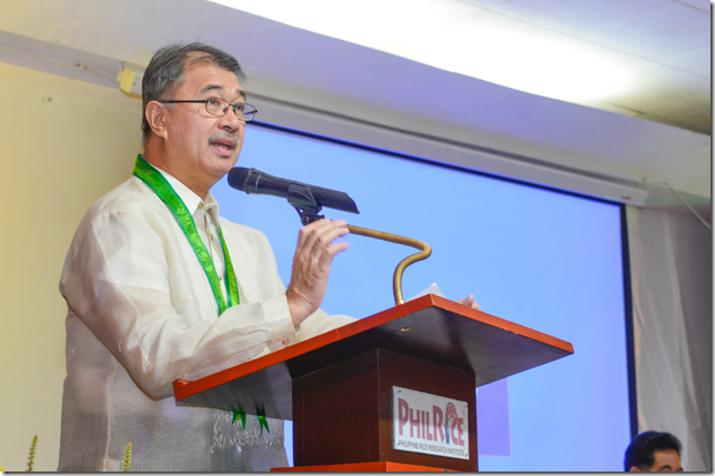 DOST Dela Peña acknowledged the outputs of rice R&D