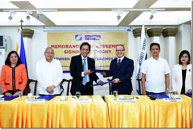 SSS welcomes CitySavings Bank as newly-accredited partner