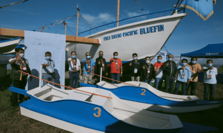 Sixty-two footer Fiberglass fishing vessel arrives at Davao