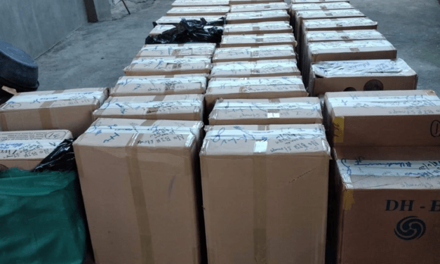 Smuggled Cigarettes Seized by Authorities at Nuev Ecija