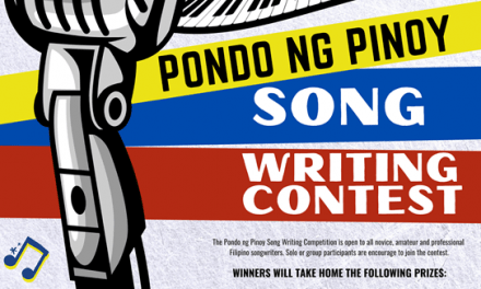 PONDO NG PINOY SONG WRITING CONTEST, KASADO NA!