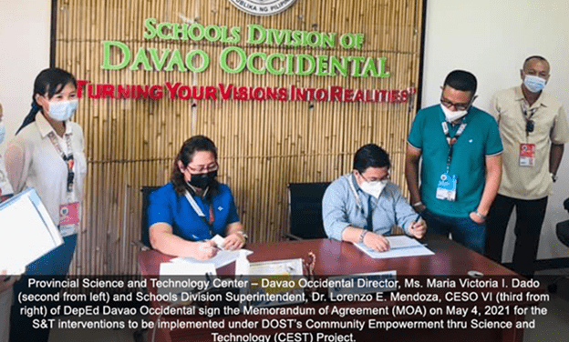 DOST-XI, DepEd Davao Occidental join hands for Community Empowerment Project