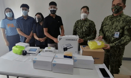 PNP REGIONAL MEDICAL AND DENTAL UNIT 3 RECEIVE ANTIGEN MACHINE AND KITS FOR PRO3 PERSONNEL