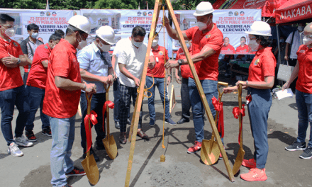 Groundbreaking and time capsule laying for a 23-story high rise building