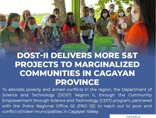 DOST-II delivers more S&T projects to marginalized communities in Cagayan province