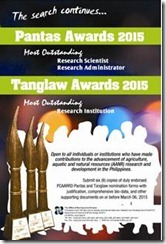 PCAARRD launches 2015 Pantas and Tanglaw Awards